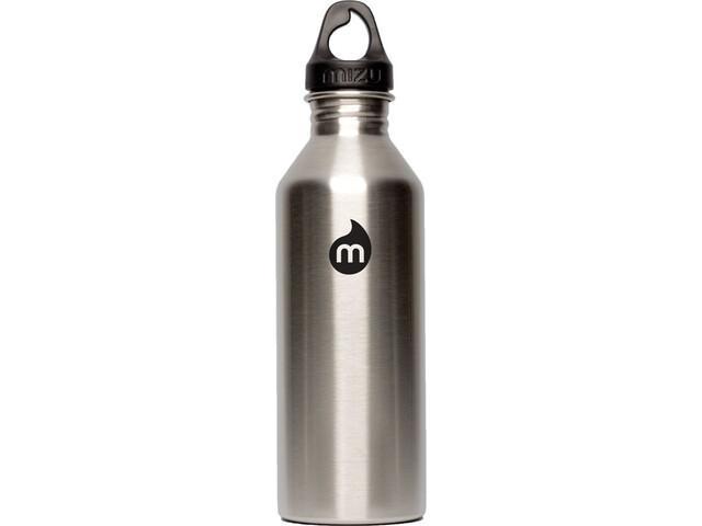 MIZU M8 Flasche with Black Print & Loop Cap 800ml Stainless